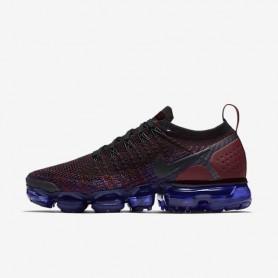 N1108 รองเท้าวิ่ง ผู้หญิง Nike Air VaporMax Flyknit 2-Black/Team Red/Racer Blue