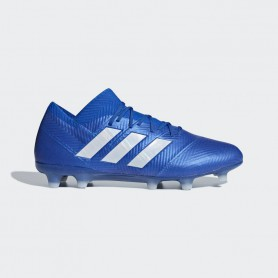 A1142 รองเท้าฟุตบอล รองเท้าสตั๊ด ADIDAS Nemeziz 18.1 FG -Blue/White