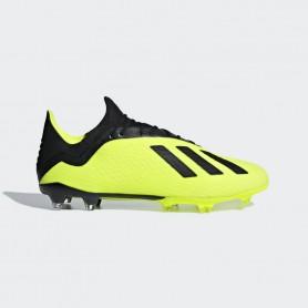 A1146 รองเท้าฟุตบอล รองเท้าสตั๊ด ADIDAS X 18.2 FG -Solar Yellow/Black