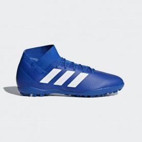 A1152 รองเท้าฟุตบอล 100ปุ่ม สนามหญ้าเทียม ADIDAS Nemeziz Tango 18.3 TR-Blue/White