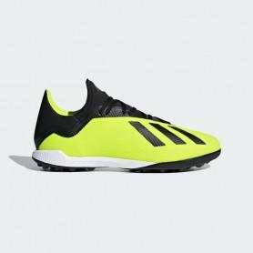 A1155 รองเท้าฟุตบอล 100ปุ่ม สนามหญ้าเทียม ADIDAS X Tango 18.3 TR-Solar Yellow/Black/White