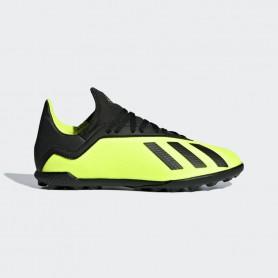 A1157 รองเท้าฟุตบอล100 ปุ่มเด็ก สนามหญ้าเทียม ADIDAS X Tango 18.3 JR. TF-Solar Yellow/Black
