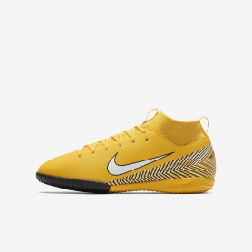 N1159 รองเท้าฟุตซอลเด็ก Nike Jr. Mercurial Superfly VI Academy Neymar Jr. IC-Amarillo/Black/White