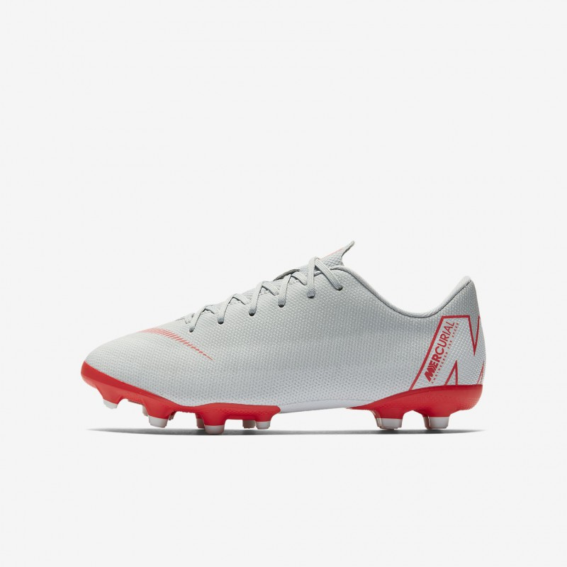 N1173 รองเท้าสตั๊ดเด็ก รองเท้าฟุตบอลเด็ก Nike Jr. Mercurial Vapor XII Academy MG-Wolf Grey