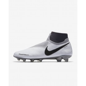 N1174 รองเท้าสตั๊ด รองเท้าฟุตบอล Nike Phantom Vision Elite Dynamic Fit FG-Pure Platinum