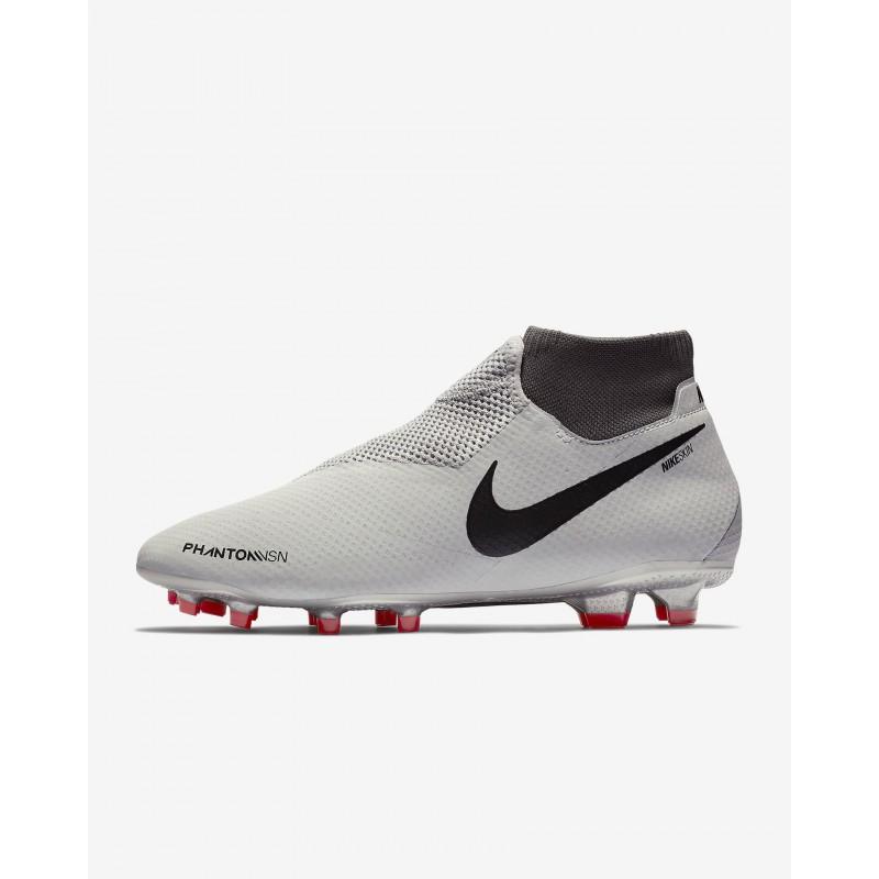 N1175 รองเท้าสตั๊ด รองเท้าฟุตบอล Nike Phantom Vision Pro Dynamic Fit FG-Pure Platinum