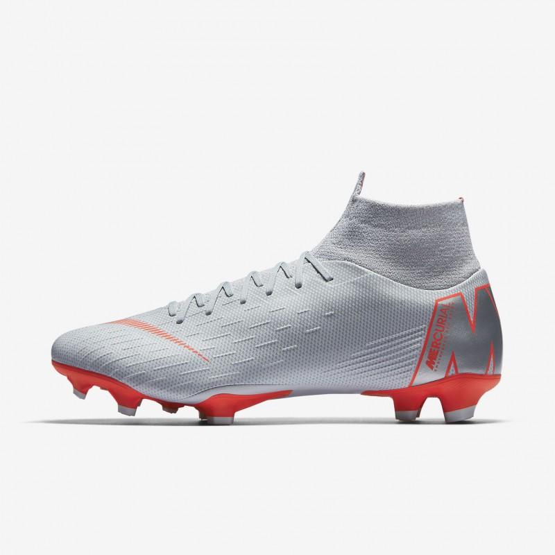 N1179 รองเท้าสตั๊ด รองเท้าฟุตบอล Nike Mercurial Superfly VI Pro FG-Wolf Grey