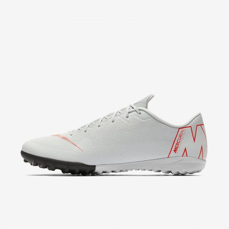 N1181 รองเท้าฟุตบอล 100ปุ่ม สนามหญ้าเทียม Nike MercurialX Vapor XII Academy TF-Wolf Grey