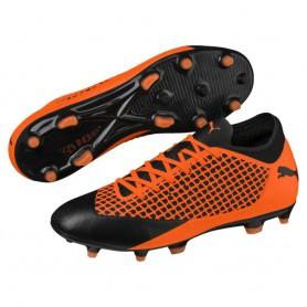 P1188 รองเท้าฟุตบอล รองเท้าสตั๊ด PUMA FUTURE 2.4 FG/AG-Orange/Black