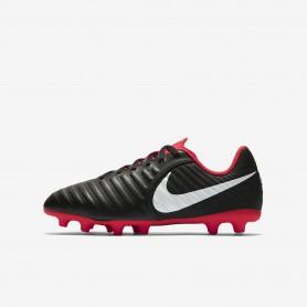 N1199 รองเท้าสตั๊ดเด็ก รองเท้าฟุตบอลเด็ก Nike Jr. Tiempo Legend Club VII FG-Black/Light Crimson