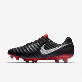 N1200 รองเท้าสตั๊ด รองเท้าฟุตบอล Nike Tiempo Legend VII Elite FG-Black/Light Crimson