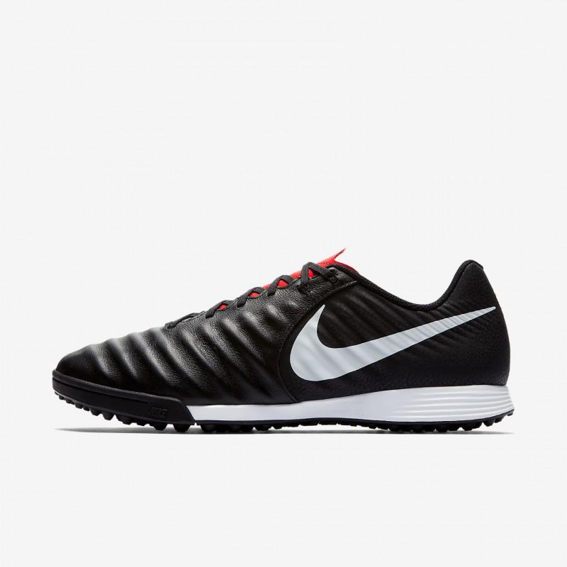 N1201 รองเท้าฟุตบอล 100ปุ่ม รองเท้าสนามหญ้าเทียม Nike TiempoX Legend VII Academy TF-Black/Light Crimson