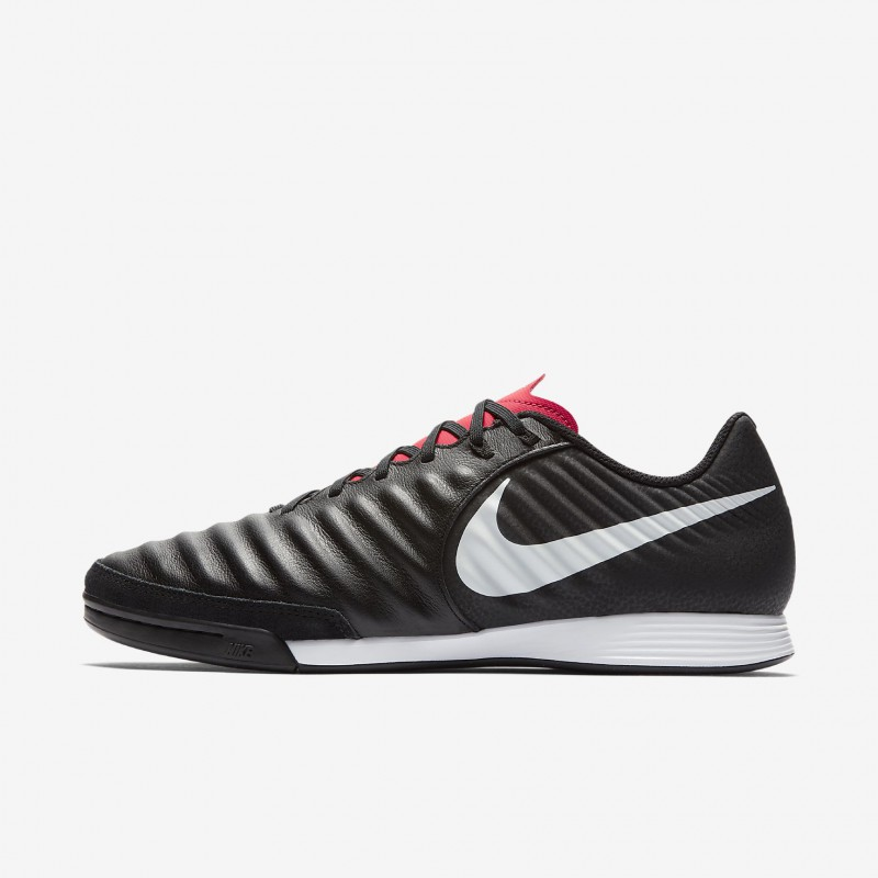 N1202 รองเท้าฟุตซอล Nike TiempoX Legend VII Academy IC-Black/Light Crimson
