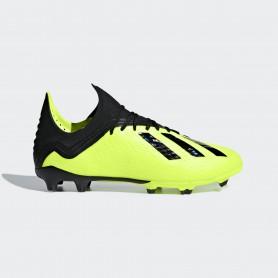 A1203 รองเท้าฟุตบอล รองเท้าสตั๊ดเด็ก ADIDAS X 18.1 JR. FG - solar yellow