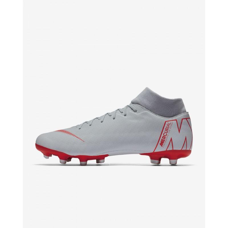 N1206 รองเท้าสตั๊ด รองเท้าฟุตบอล Nike Mercurial Superfly VI ACADEMY MG-Wolf Grey