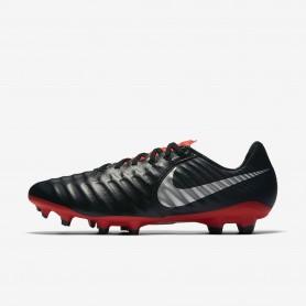 N1214 รองเท้าสตั๊ด รองเท้าฟุตบอล Nike Tiempo Legend VII Pro FG-Black/Light Crimson