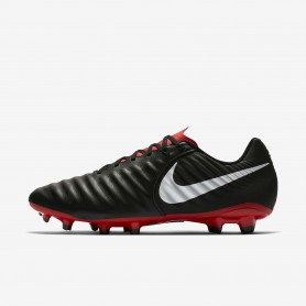N1215 รองเท้าสตั๊ด รองเท้าฟุตบอล Nike Tiempo Legend VII Academy FG-Black/Light Crimson