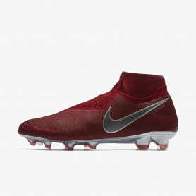 N1225 รองเท้าสตั๊ด รองเท้าฟุตบอล Nike Phantom Vision Elite Dynamic Fit FG-Team Red/Mtlc Dark Grey