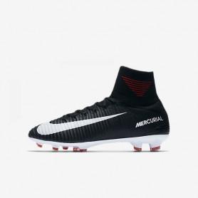 N0152 รองเท้าฟุตบอลเด็ก รองเท้าสตั๊ดเด็ก ตัวท็อปสุด NIKE Mercurial Superfly V Dynamic Fit FG Jr. - Black