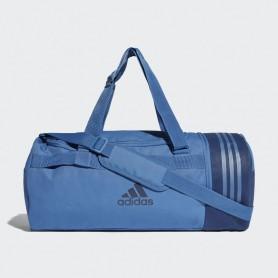 A1235 กระเป๋า Adidas Convertible 3-Stripes Duffel Bag M-Blue