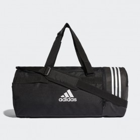A1236 กระเป๋า Adidas Convertible 3-Stripes Duffel Bag Medium-BLACK