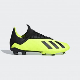 A1401 รองเท้าฟุตบอล รองเท้าสตั๊ดเด็ก ADIDAS X 18.3 JR. FG -solar yellow