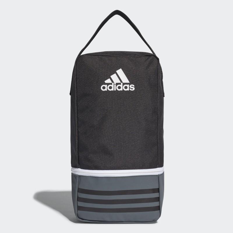 A0186 กระเป๋าใส่รองเท้า adidas TIRO SHOE BAG - Black/Dark Grey/White