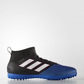 A0203 รองเท้าฟุตบอล 100ปุ่ม สนามหญ้าเทียม ADIDAS ACE 17.3 PRIMEMESH TURF BOOTS - Core Black/Footwear White/Blue
