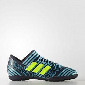 A0209 รองเท้าฟุตบอล 100 ปุ่มเด็ก สนามหญ้าเทียม ADIDAS NEMEZIZ TANGO 17.3 TURF Jr. - Energy Blue