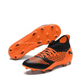 P1600 รองเท้าฟุตบอล รองเท้าสตั๊ด PUMA FUTURE 2.3 NETFIT FG/AG -Orange