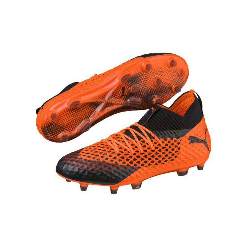 P1601 รองเท้าฟุตบอล รองเท้าสตั๊ด PUMA FUTURE 2.1 NETFIT FG/AG- Blac /Orange