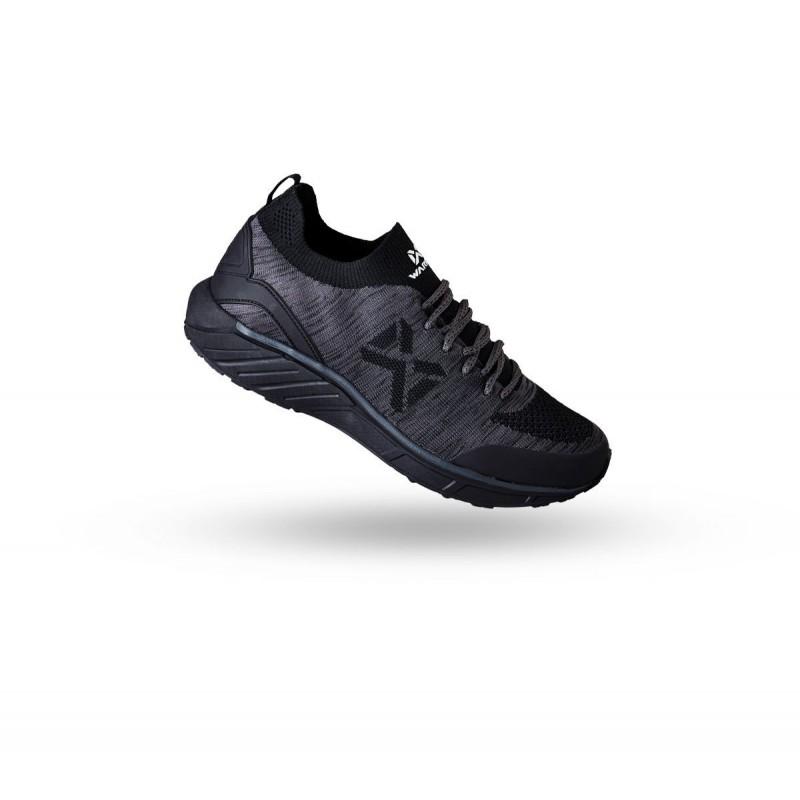 W1603 รองเท้าวิ่ง Warrix COMBAKNIT 1.0 - สีเทา/ดำ