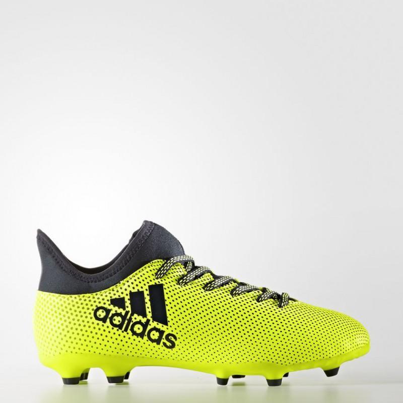 A0214 รองเท้าฟุตบอล รองเท้าสตั๊ดเด็ก ADIDAS X 17.3 FG Jr. - Solar Yellow
